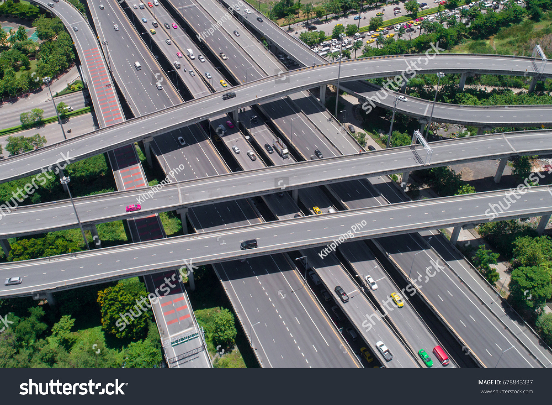 Controlledaccess Highway Highestgrade Type Highway Access Stock Photo (Edit  Now) 678843337