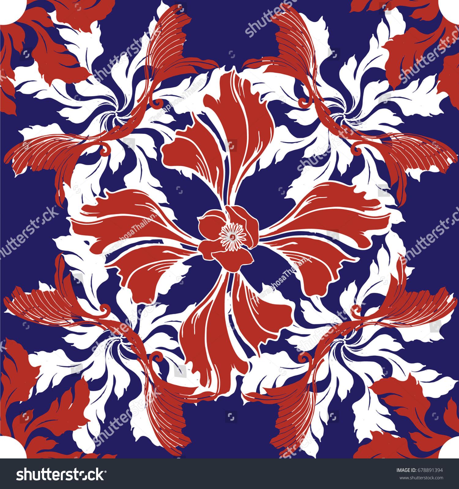 pattern ceramic tile colorful vintage pattern stock vector pattern ceramic tile with colorful vintage pattern in