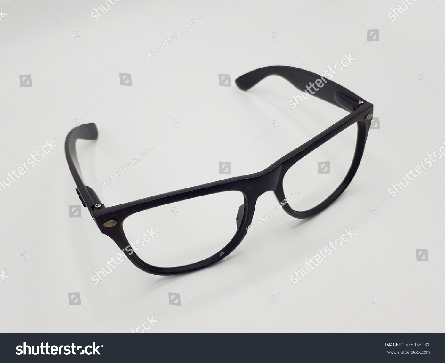 Old Glasses Frame On White Background Stock Photo (Royalty Free ...