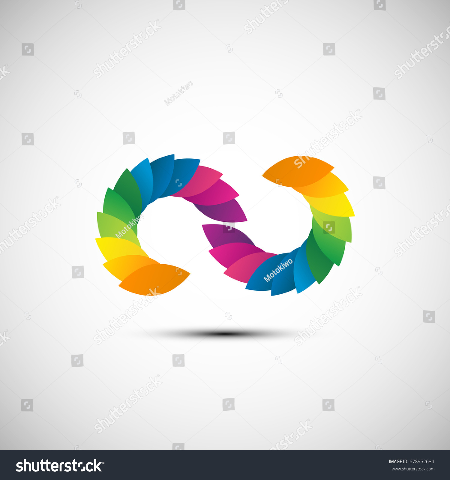 Creative Letter Co Logo Design Colorful Stock Photo Photo Vector
