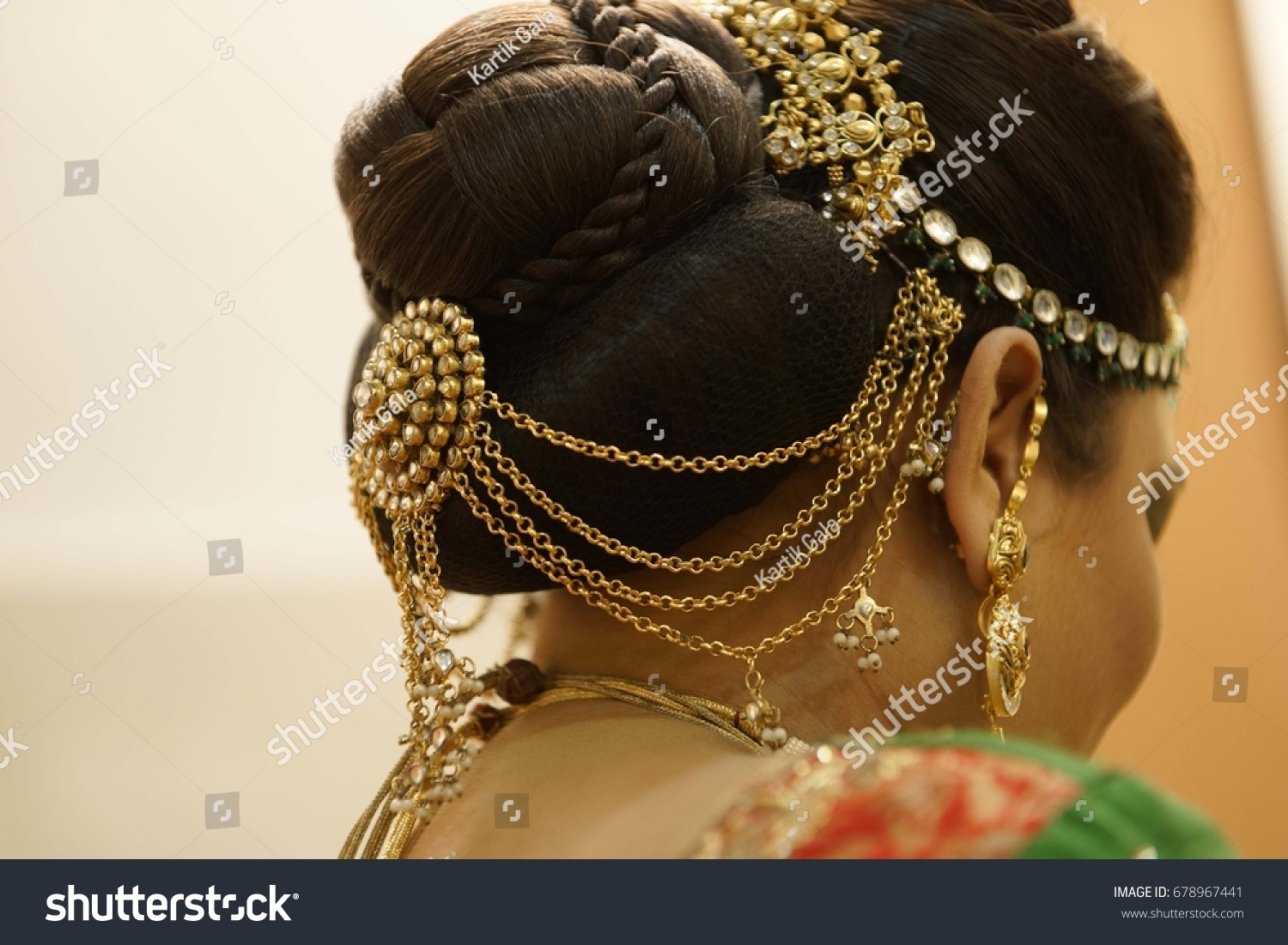 Indian Wedding Girl Hair Style Indian Stock Photo Edit Now 678967441