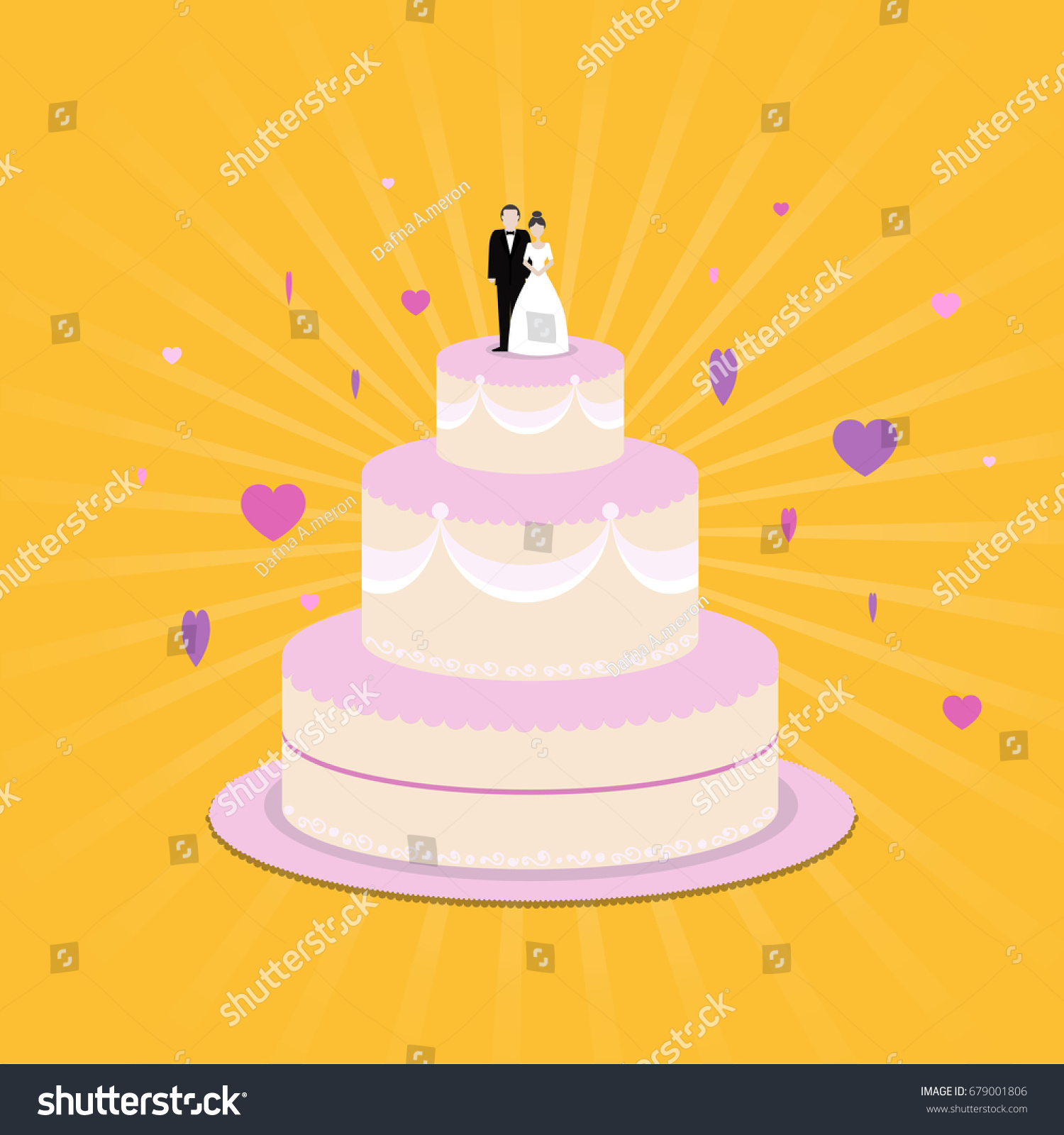 Wedding Cake Icon Stock Vector 679001806 - Shutterstock