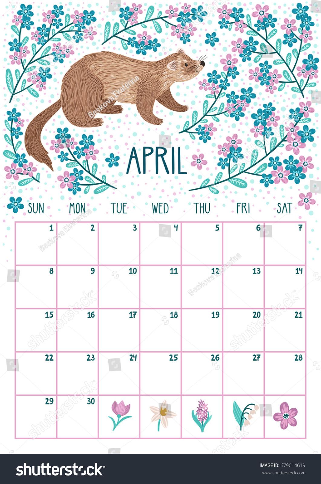 April Calendar 2018 April Calendar 2018April Calendar 2018