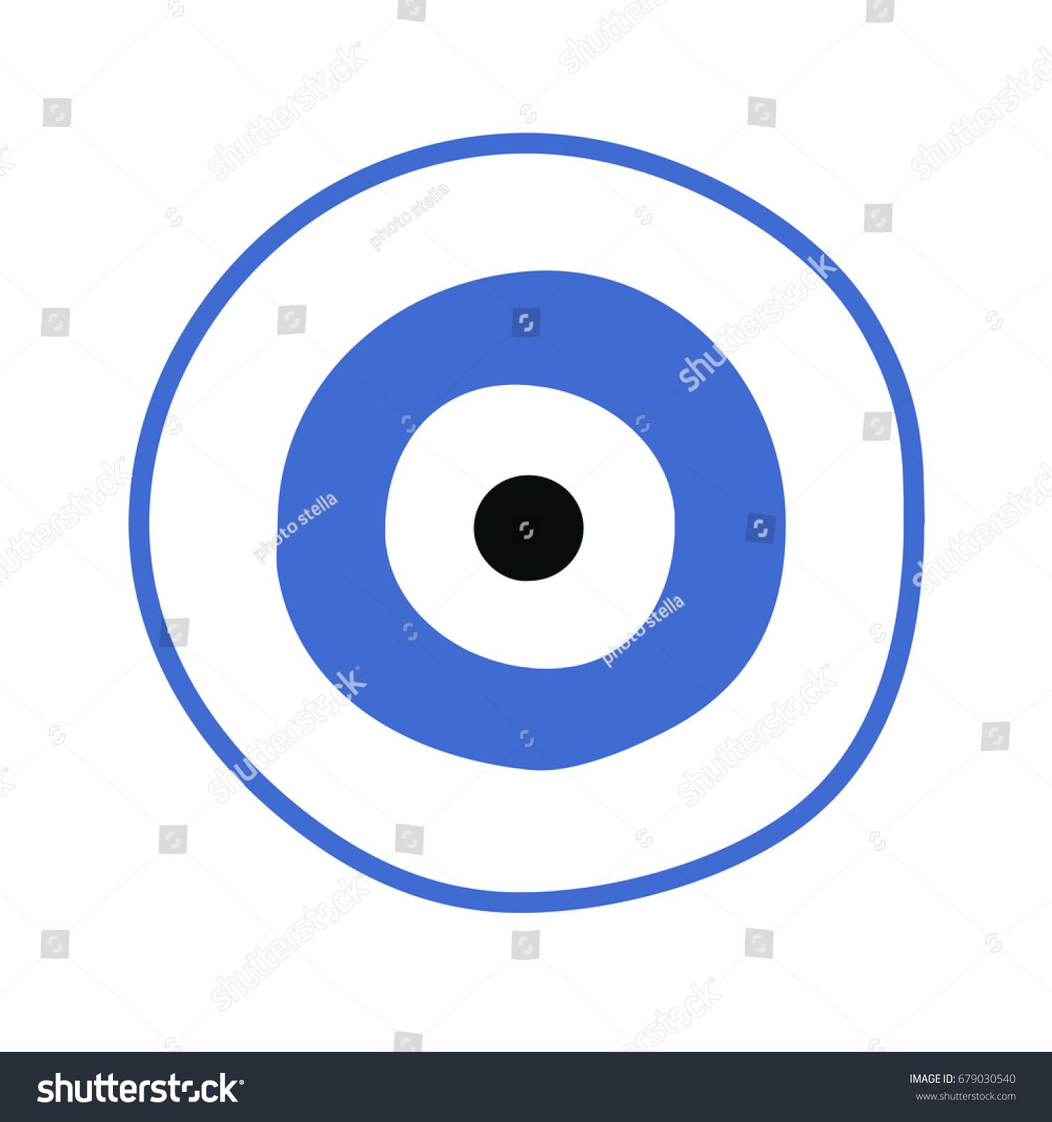 Blue Greek Evil Eye Vector Symbol Stock Vector Royalty Free