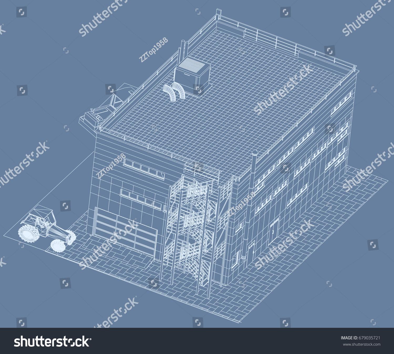 architectural design blueprint.  Blueprint Architectural Design Blueprint Public Building Exhibition Hall  Construction Machinery Cranes For Design Blueprint 2