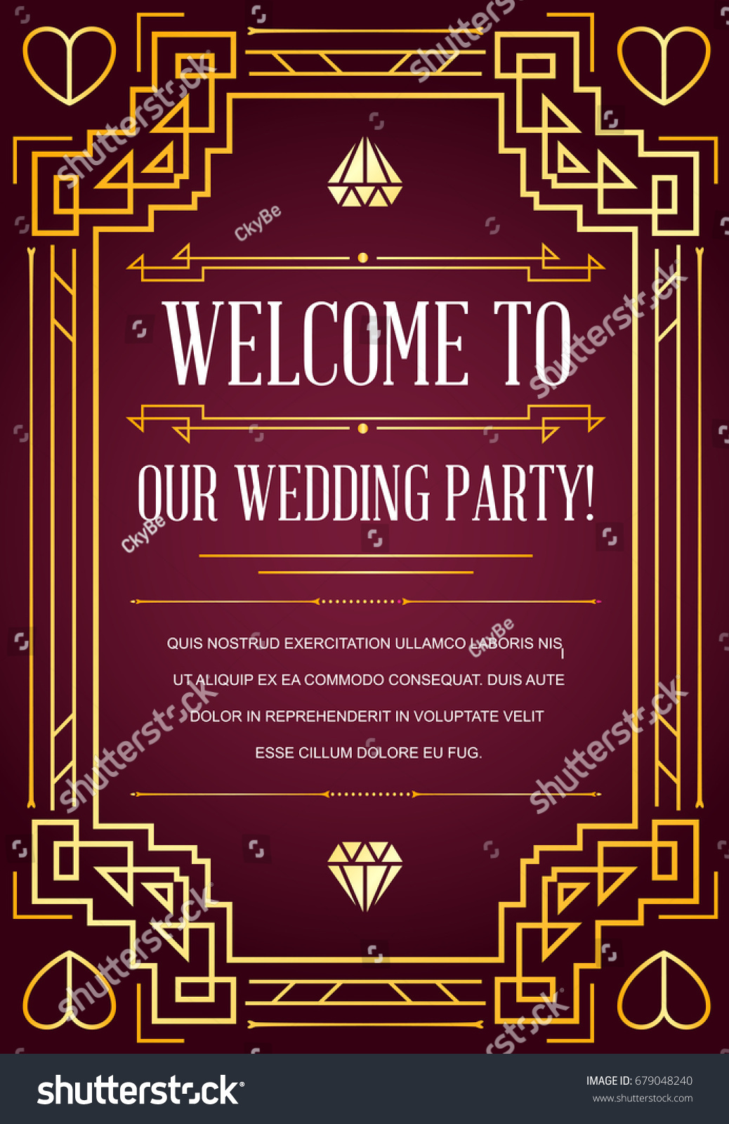 Great Quality Style Invitation Art Deco Stock Illustration 679048240 ...