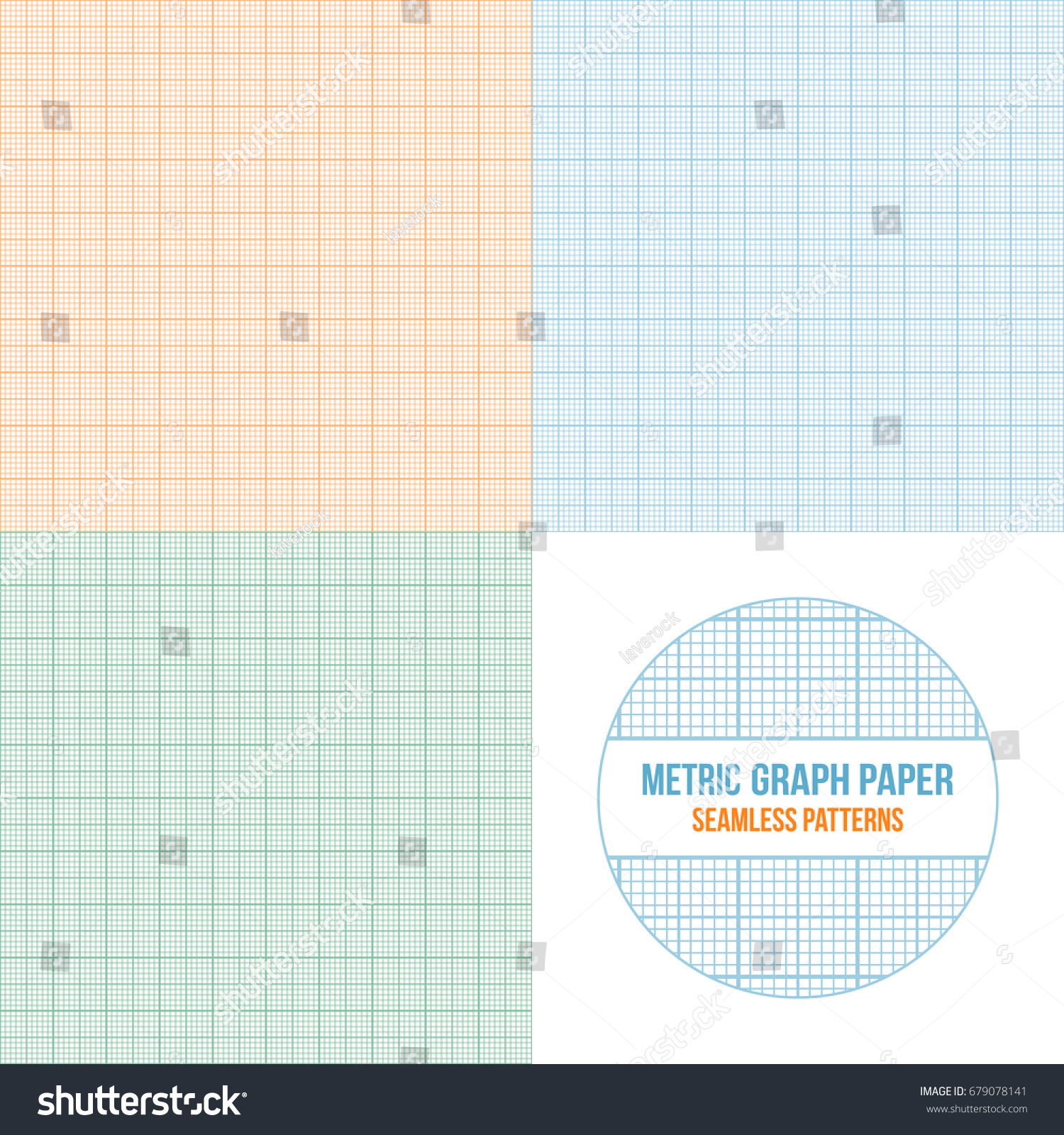 vector metric graph paper seamless patterns stock vector royalty