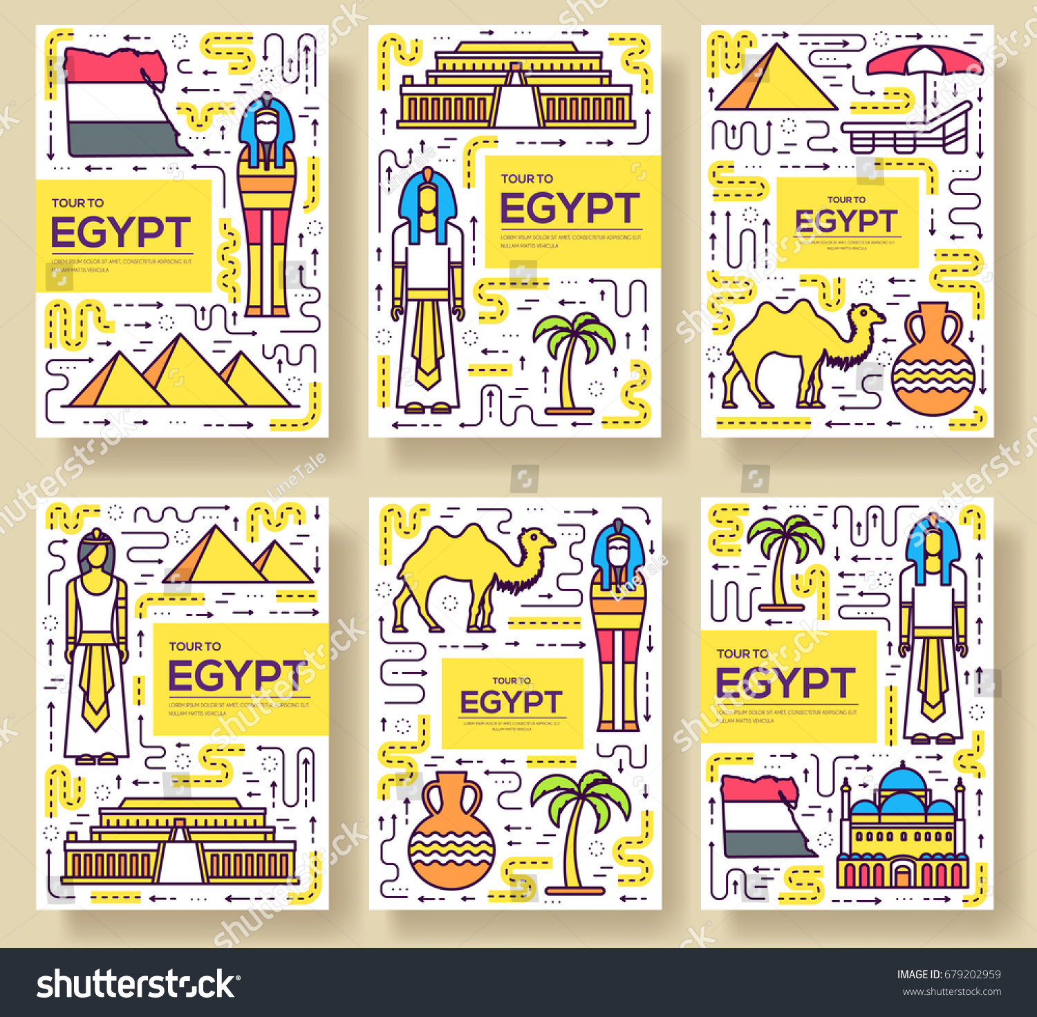 Country egypt travel vacation guidevector brochure stock for Egypt brochure templates