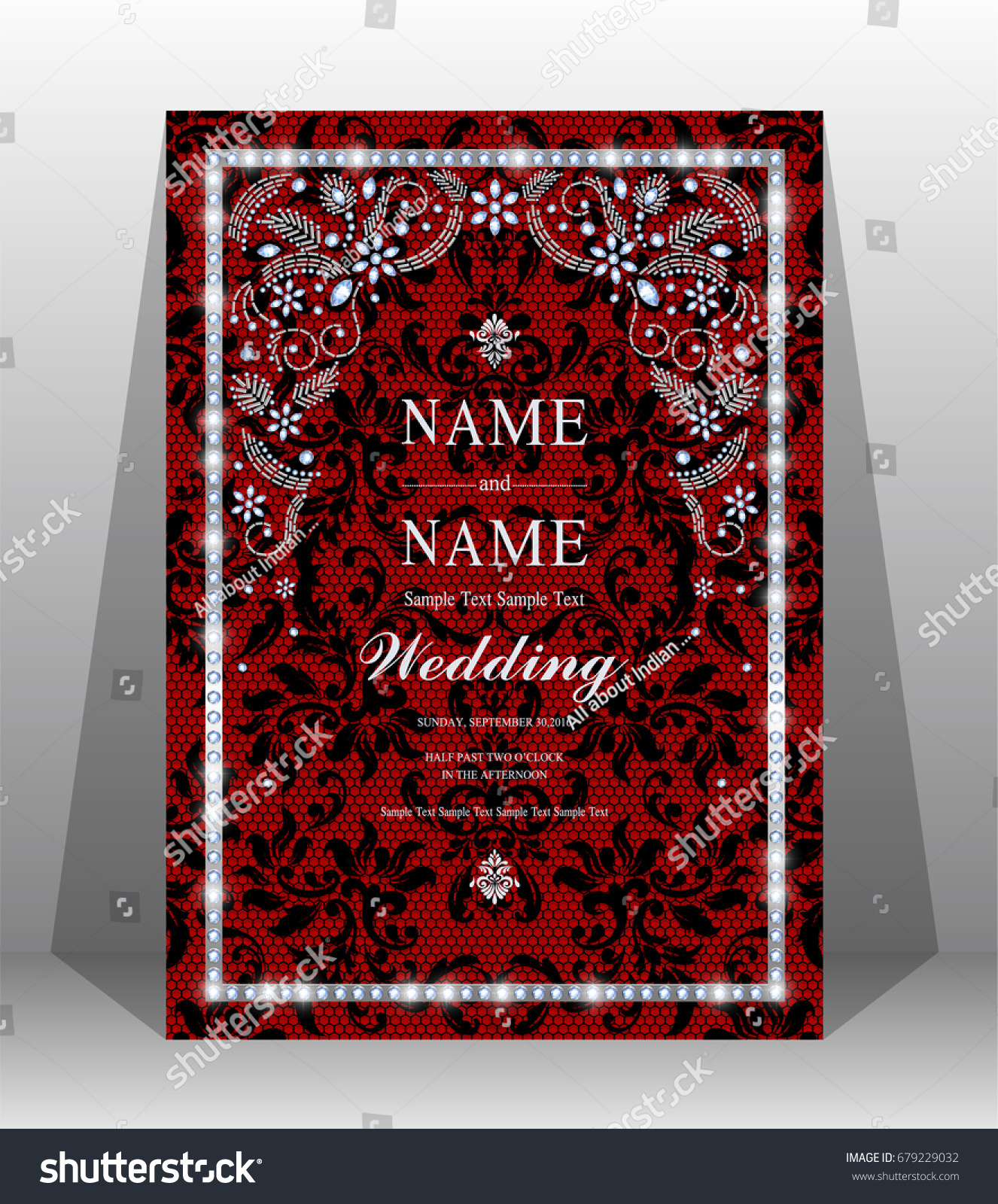 Luxury Wedding Invitation Card Haute Couture Stock Vector (Royalty ...