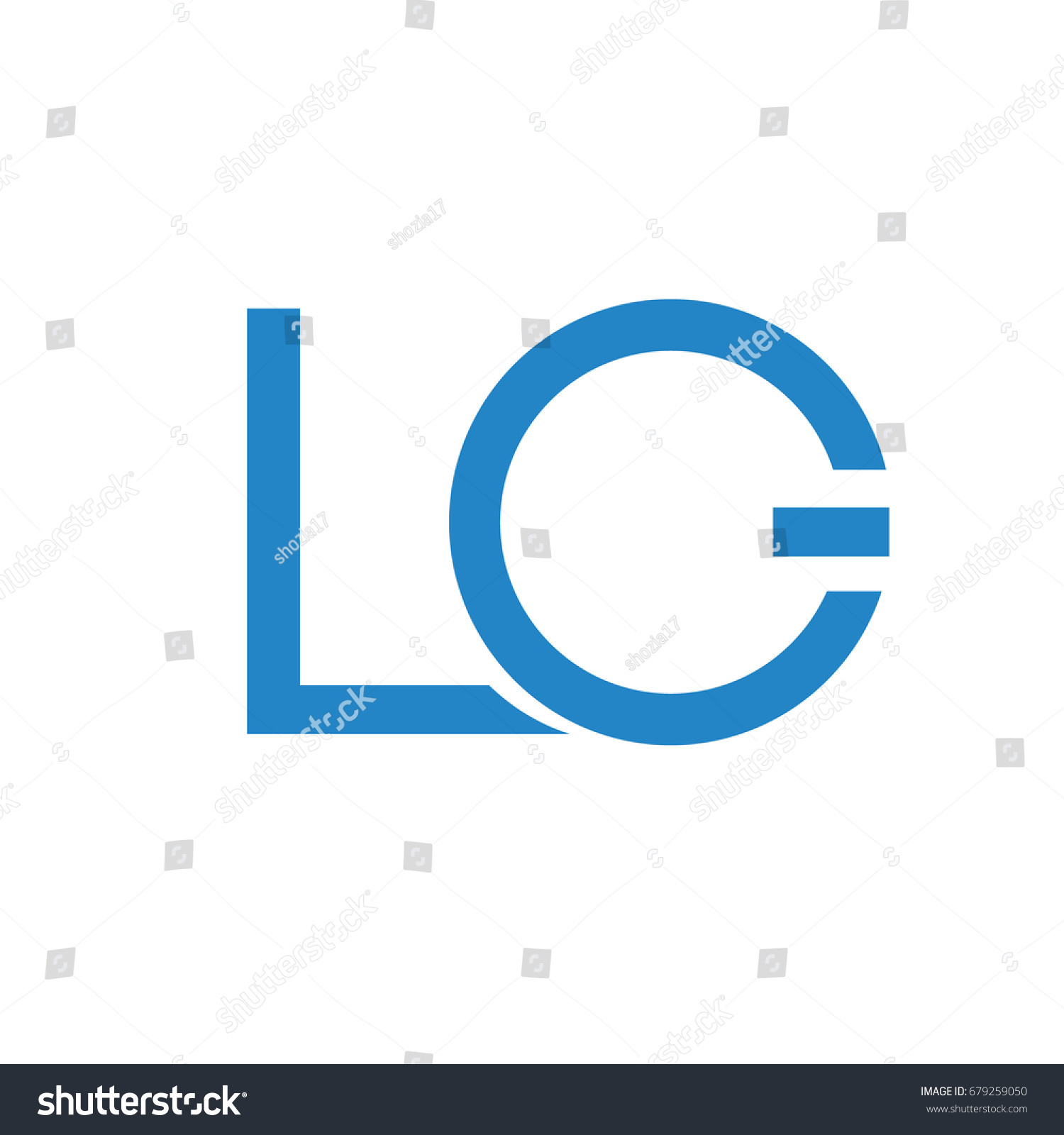 Lg Logo Blue Company Technology Power Stock Vector Royalty Free