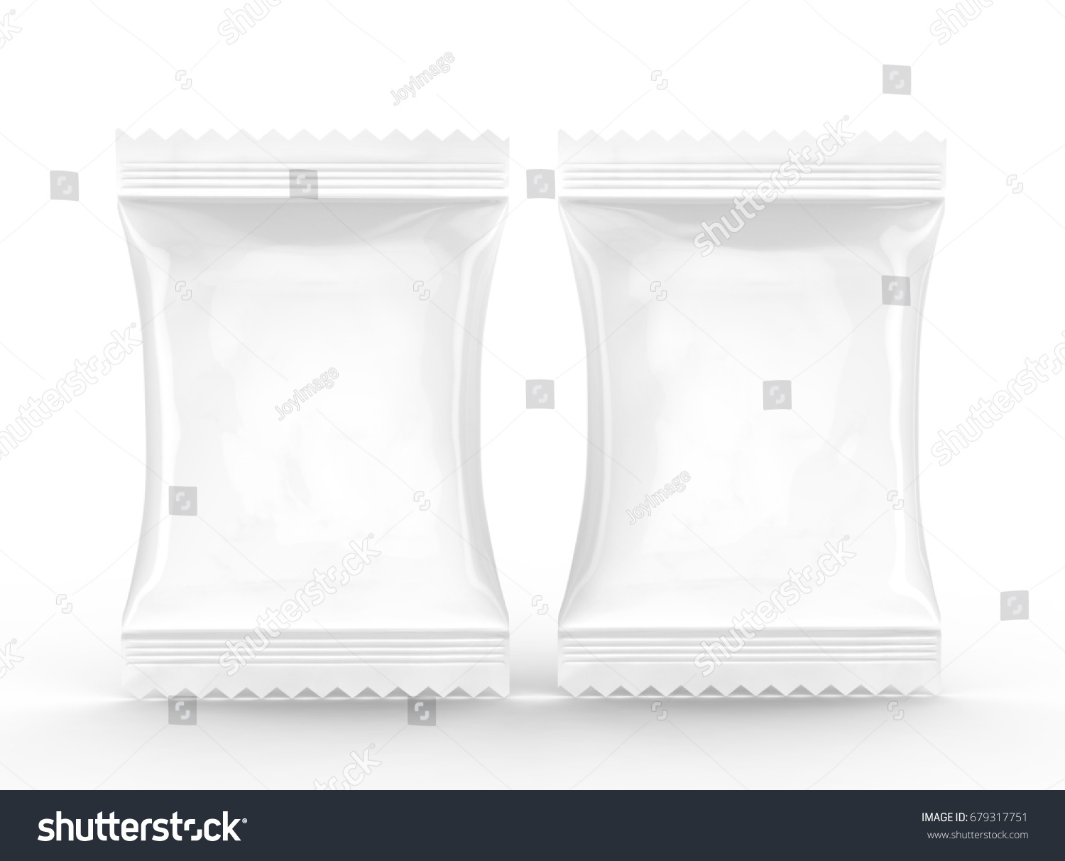 Crackers Package Template Blank Food Foil Stock Illustration ...
