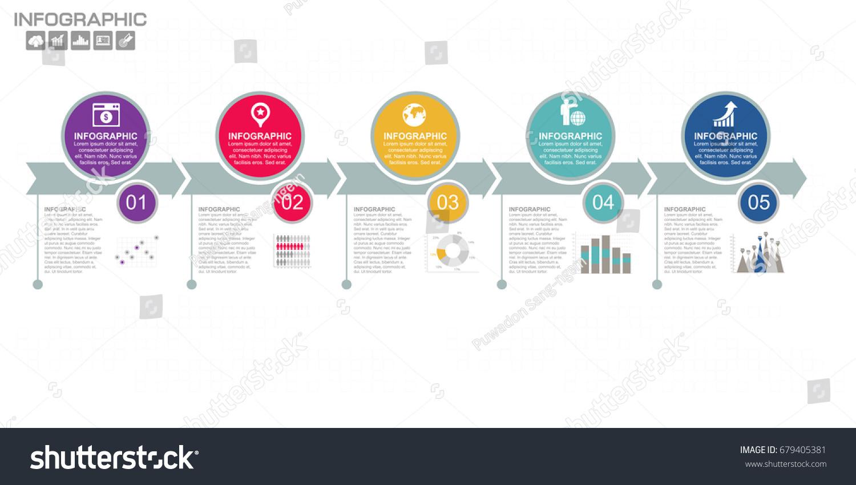 business data process chart diagram steps のベクター画像素材