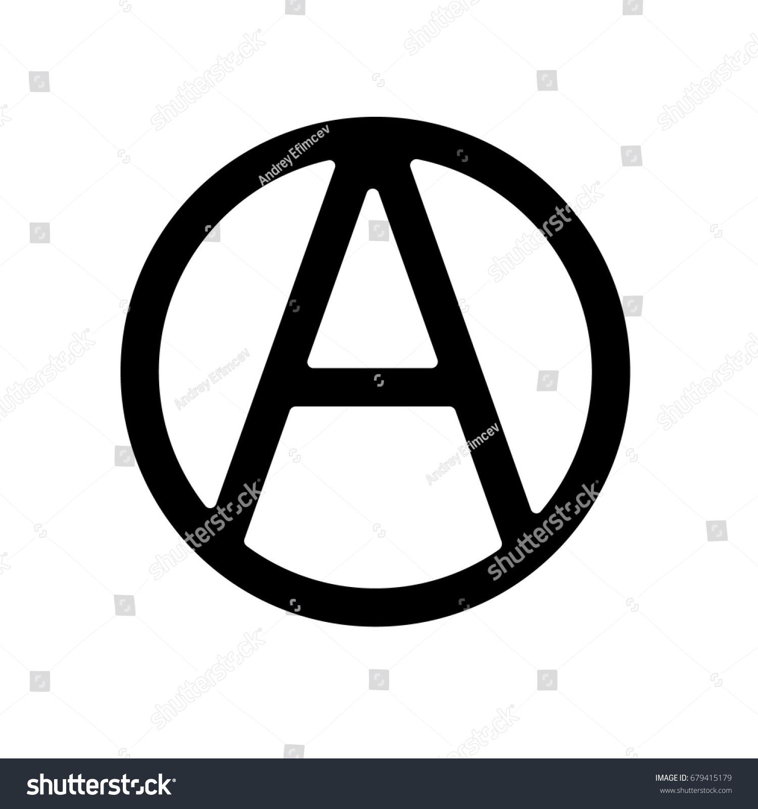 Anarchy symbol icon vector stock vector 679415179 shutterstock anarchy symbol icon vector buycottarizona