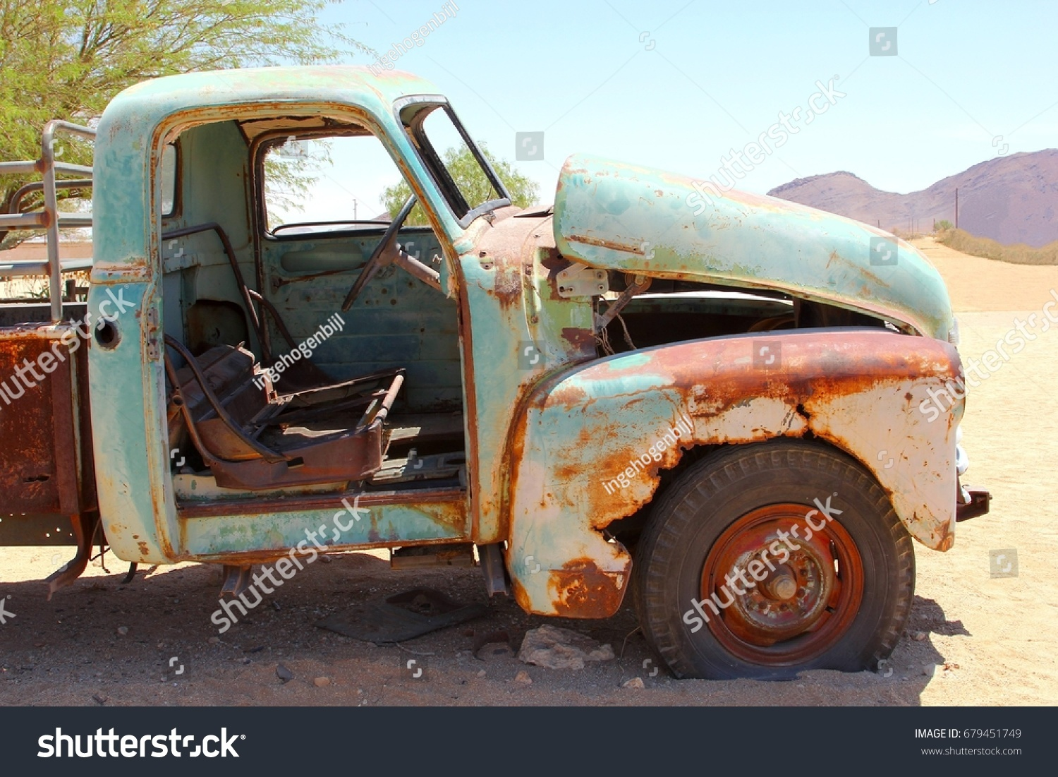 Side View Abandoned Rusty Pickup Truck Stock Photo (Royalty Free ...