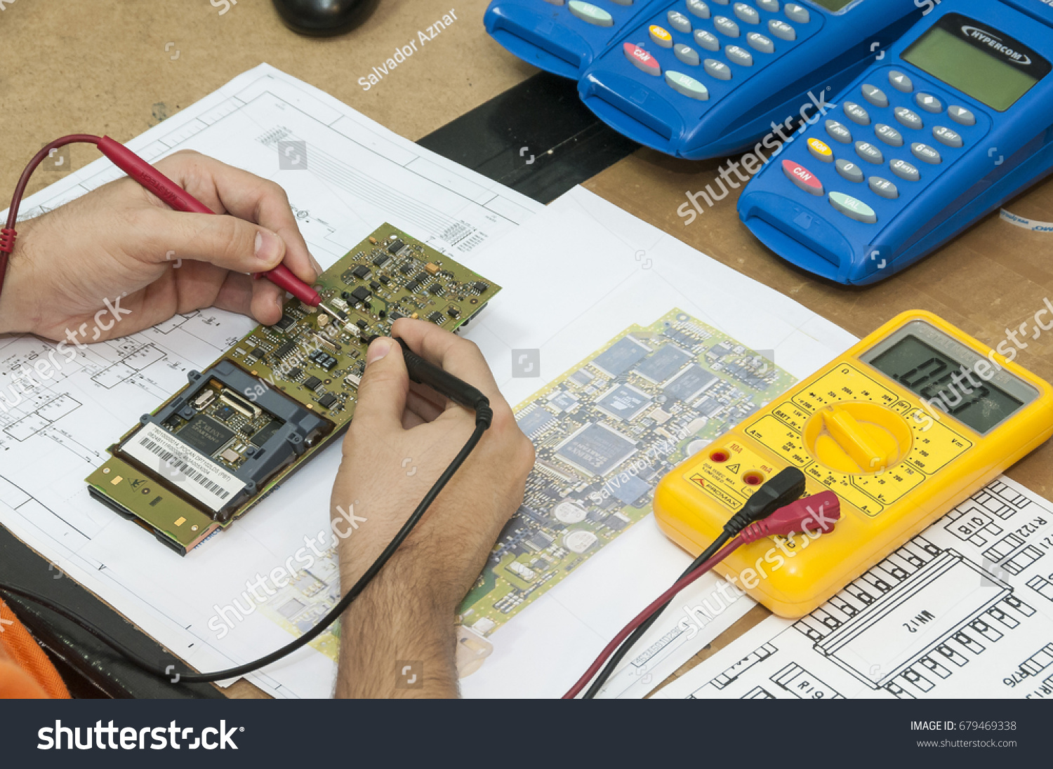 Tenerife Canary Islands November 12 2010 Stock Photo Edit Now Electronic Circuit Detailed View Of The Hands