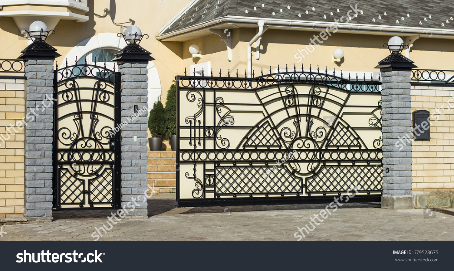 Beautiful Automatic Gate To The Patio Of The Family House