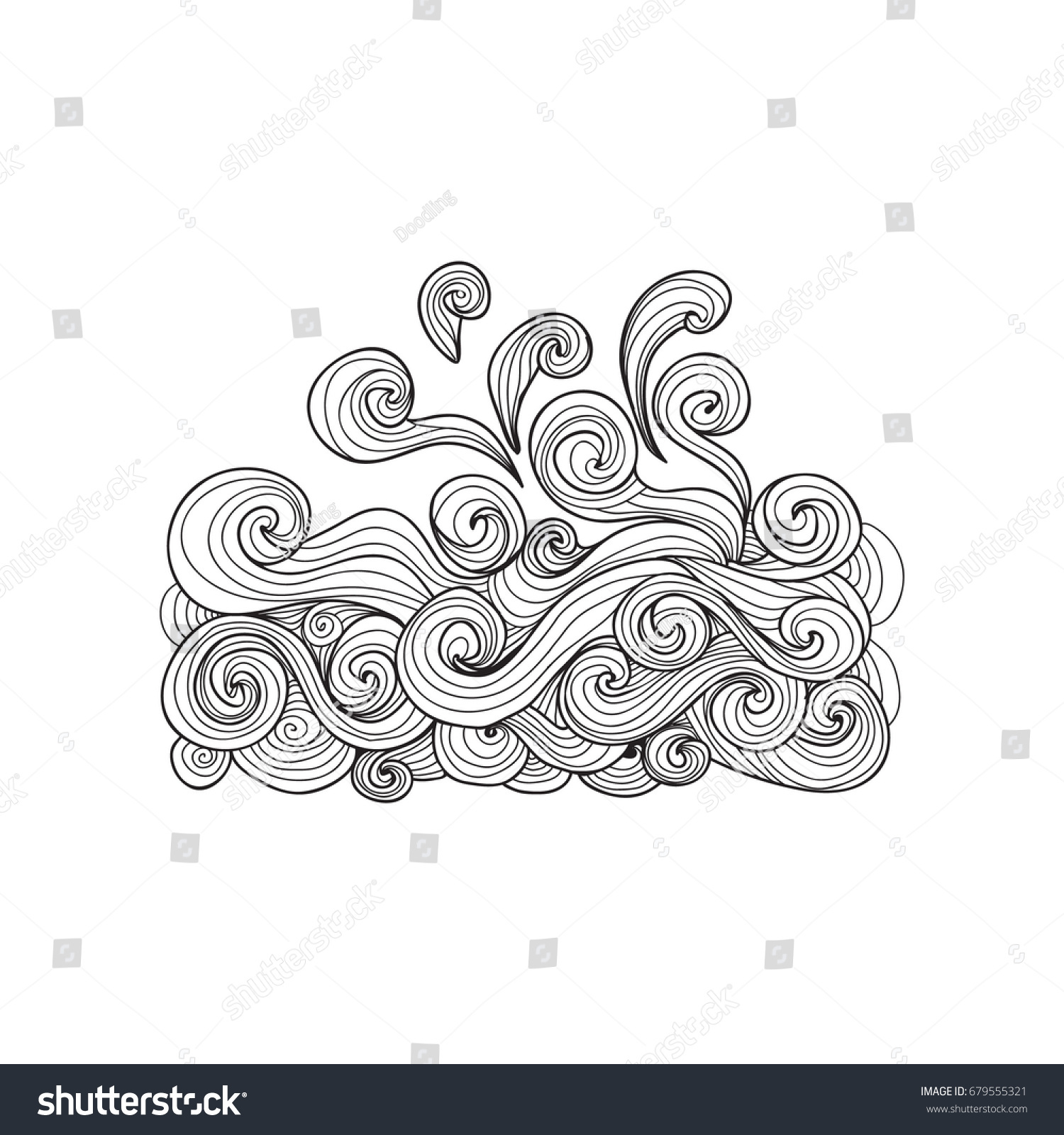 Anti stress colouring book asda - Sea Wave Coloring Book For Adults Vector Illustration Anti Stress Coloring For Adult Water