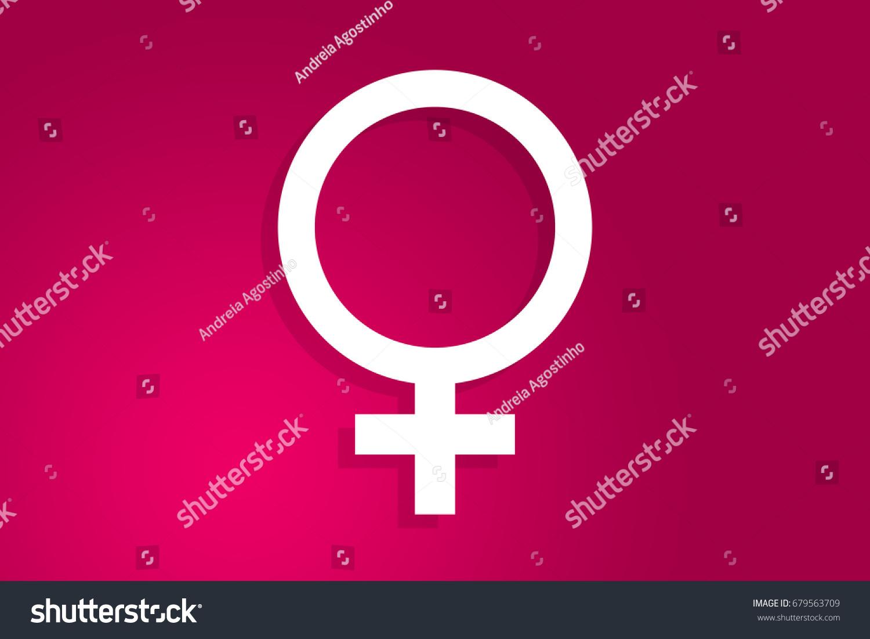 Female Symbol Gender Woman Icon Illustration Stock Illustration