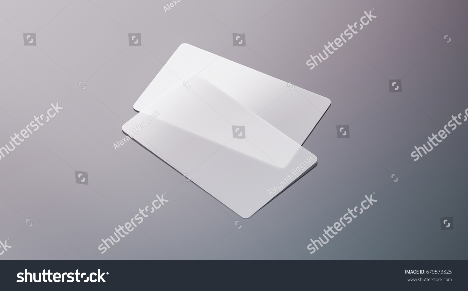 Blank Plastic Transparent Business Cards Mock Stock Illustration ...