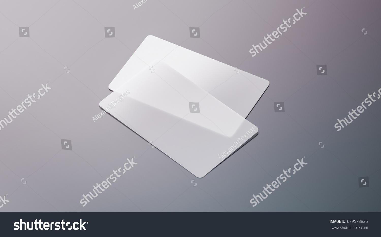 Blank Plastic Transparent Business Cards Mock Stock Illustration ...