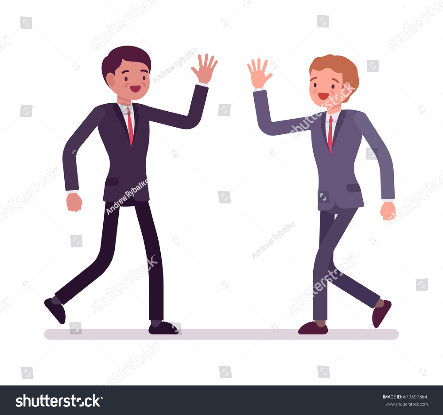 Cartoon People Meeting Each Other Topsimages