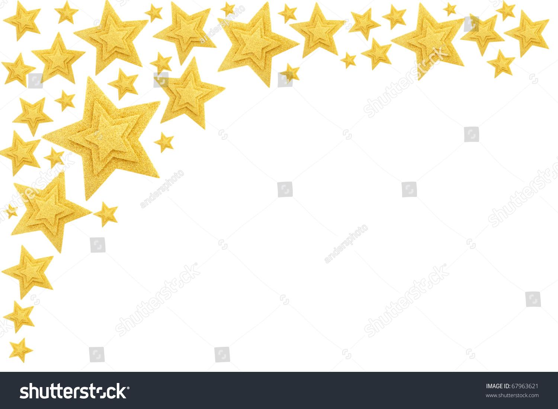 Gold Stars Border Isolated On White Stock Photo 67963621 ... - photo #17