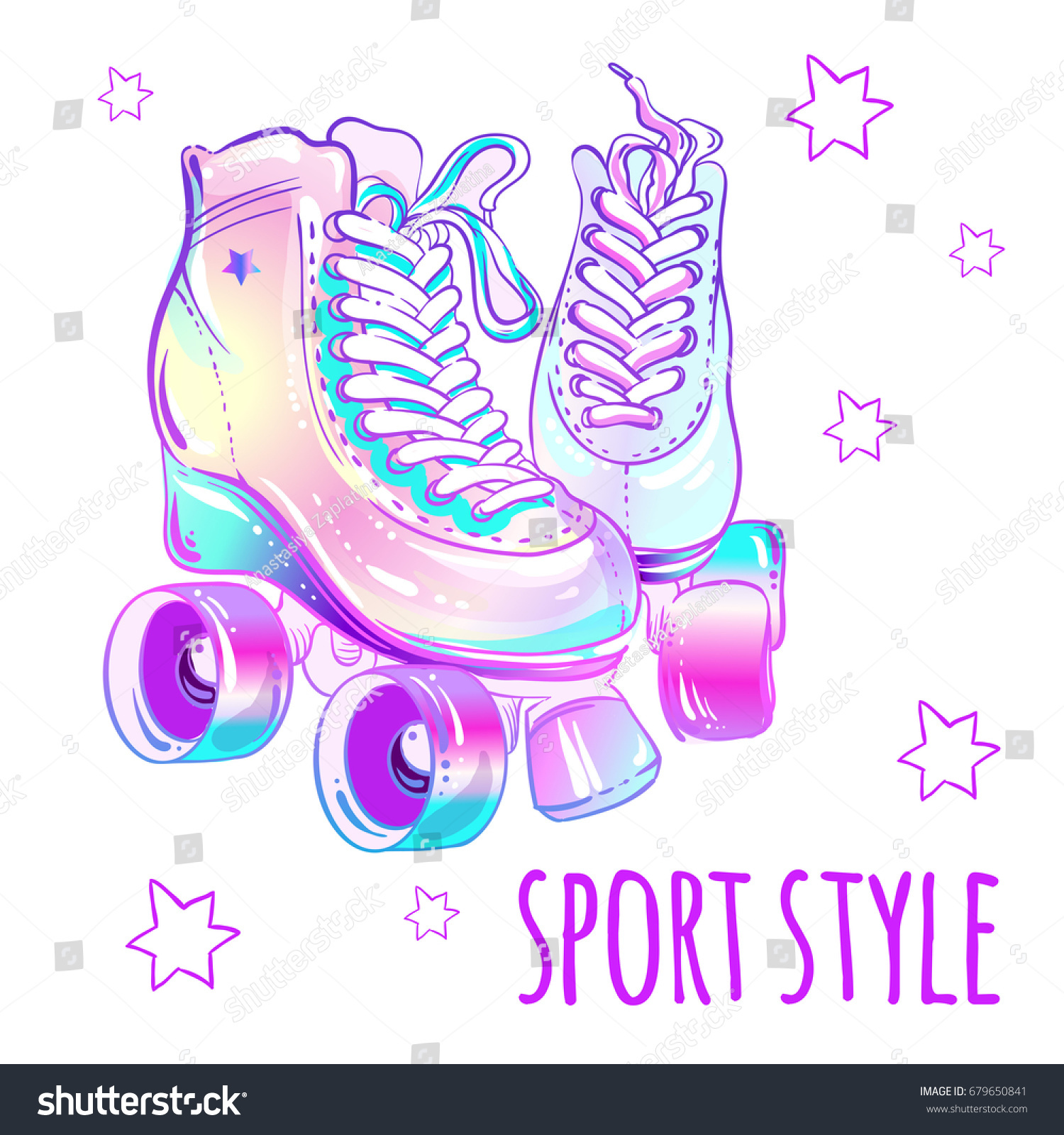 Girly Beautiful Highdetailed Rollers Vector Illustration Stock ...