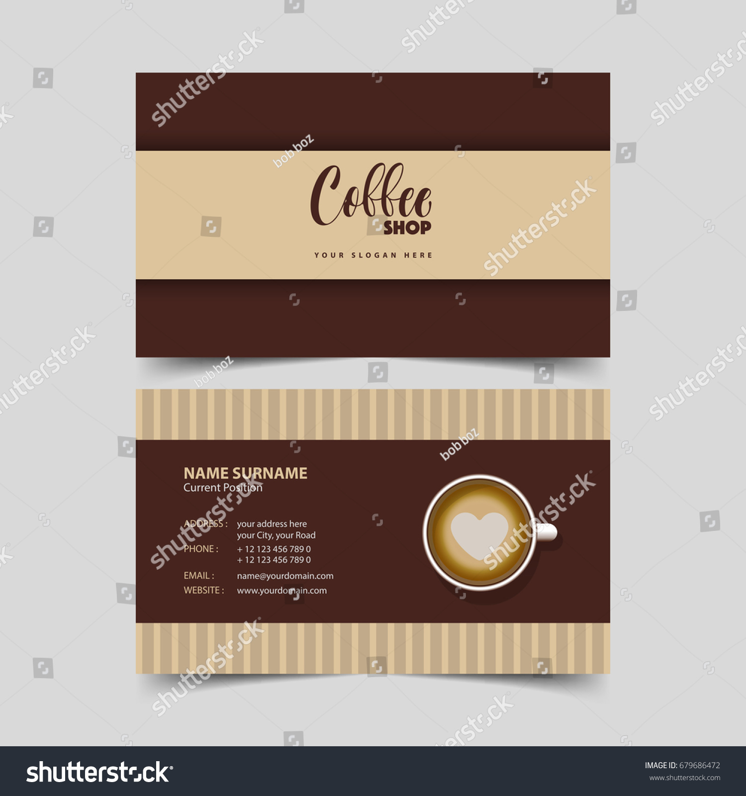 Coffee business card template free mandegarfo coffee business card template free friedricerecipe Image collections