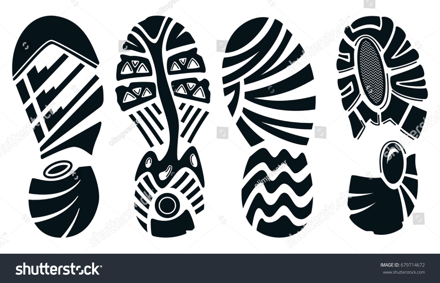 silhouette sport running shoes isolated on stock vector