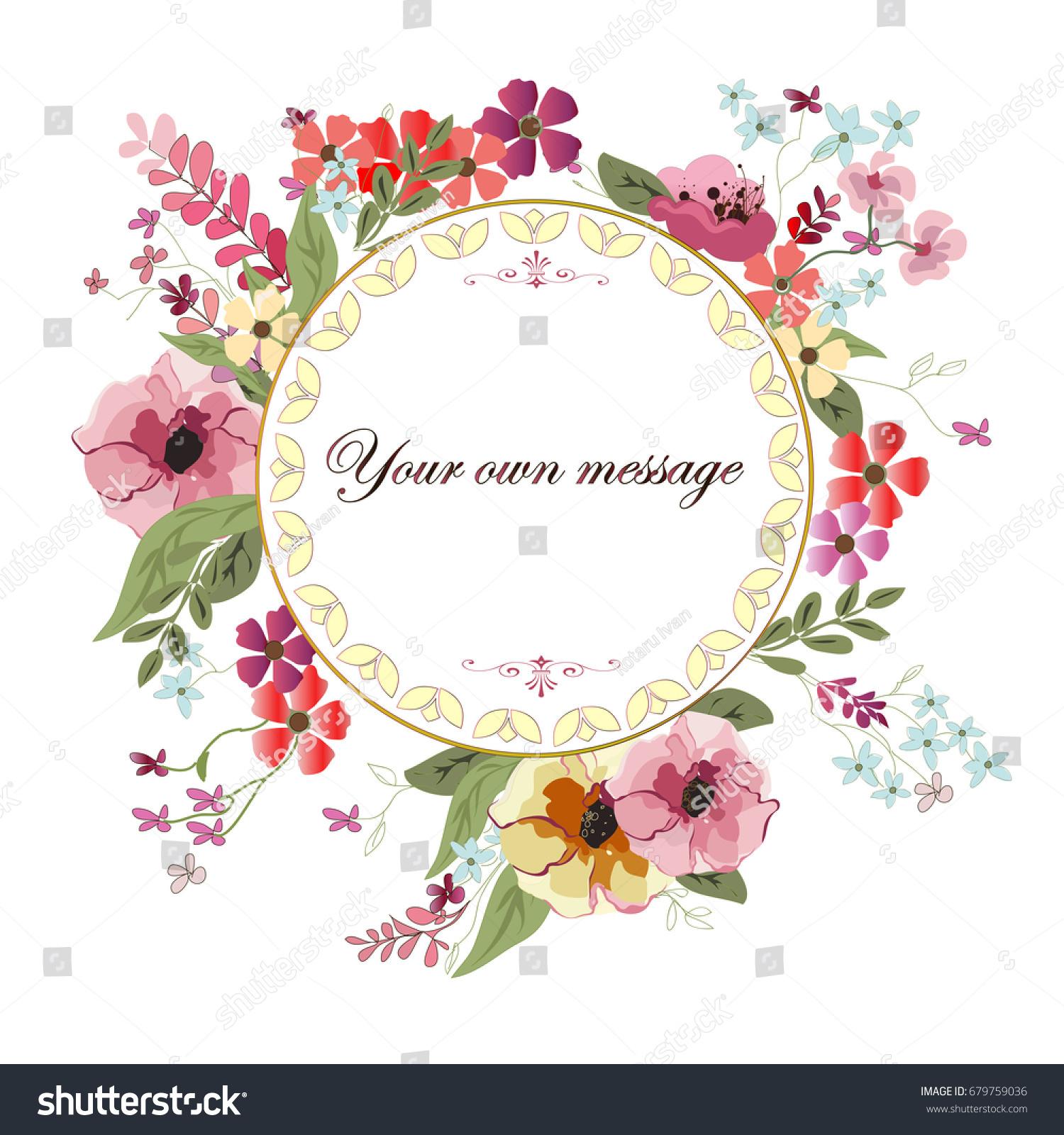 Love Romantic Greeting Invitation Card Wedding Stock Vector