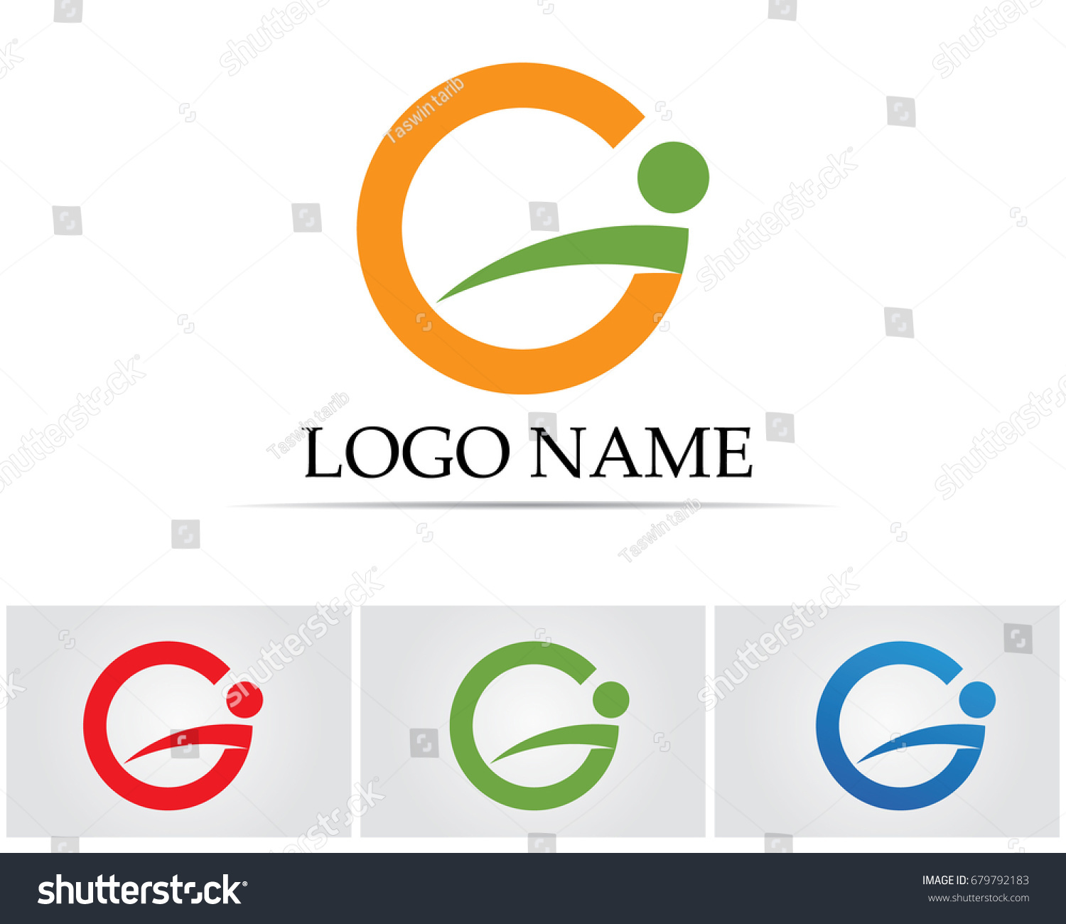 G Symbols Logo Template Stock Vector Royalty Free 679792183