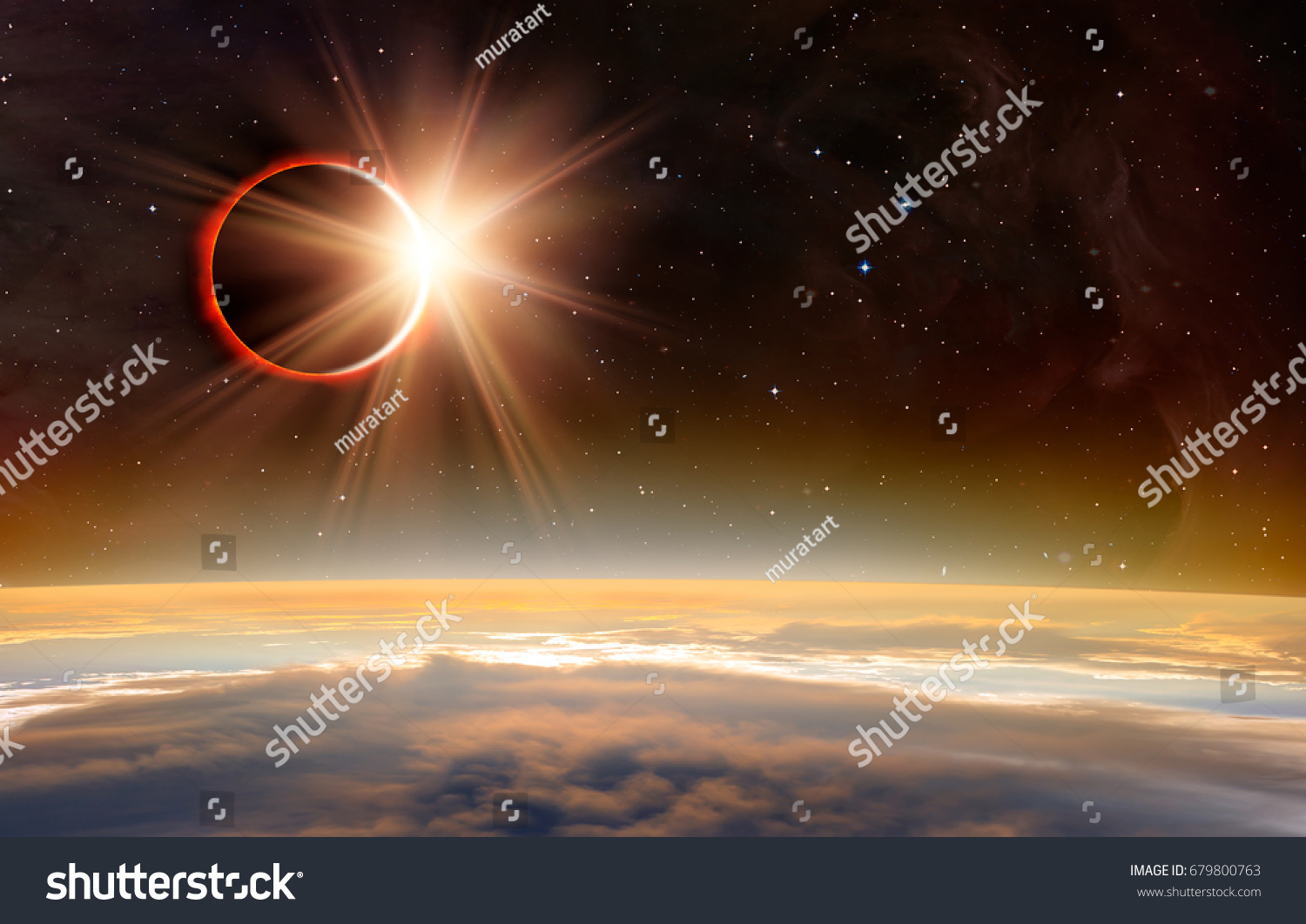 "Solar Eclipse ""Elements of this image furnished by NASA "" #679800763"