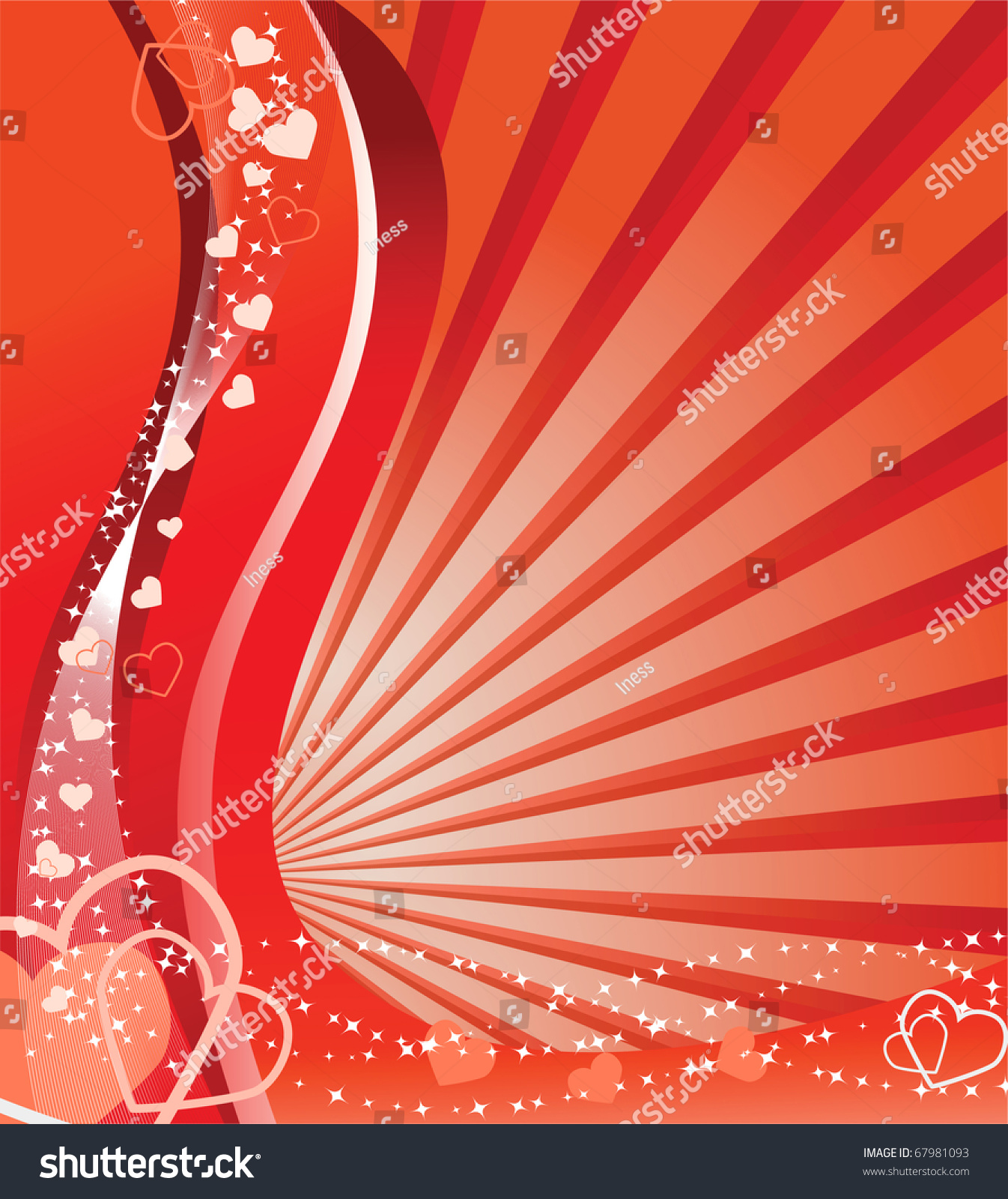 ed valentine background with hearts vector illustration