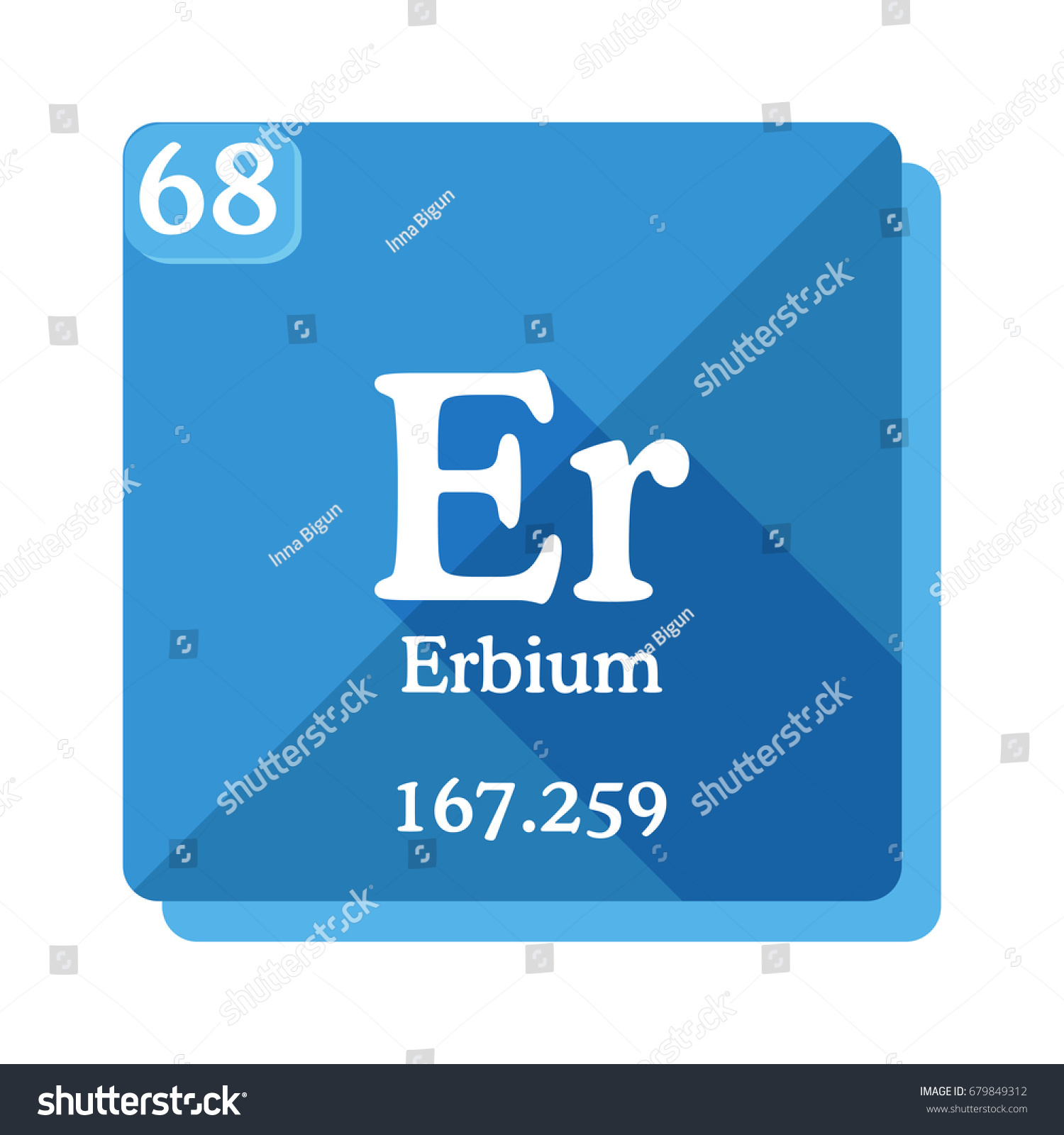 Erbium er element periodic table vector stock vector 679849312 erbium er element of the periodic table vector illustration in flat style gamestrikefo Image collections