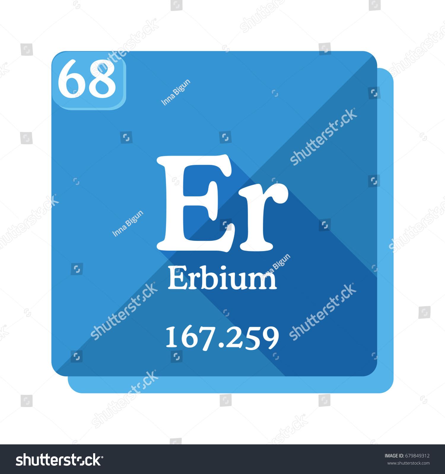 Erbium er element periodic table vector stock vector 679849312 erbium er element of the periodic table vector illustration in flat style gamestrikefo Gallery