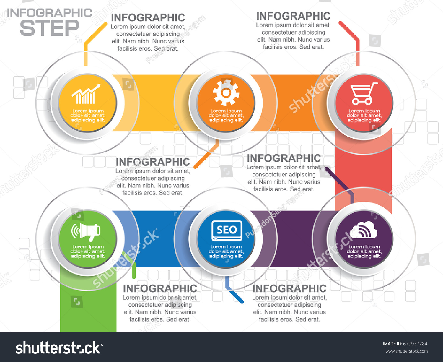 infographic design vector template icons options stock vector
