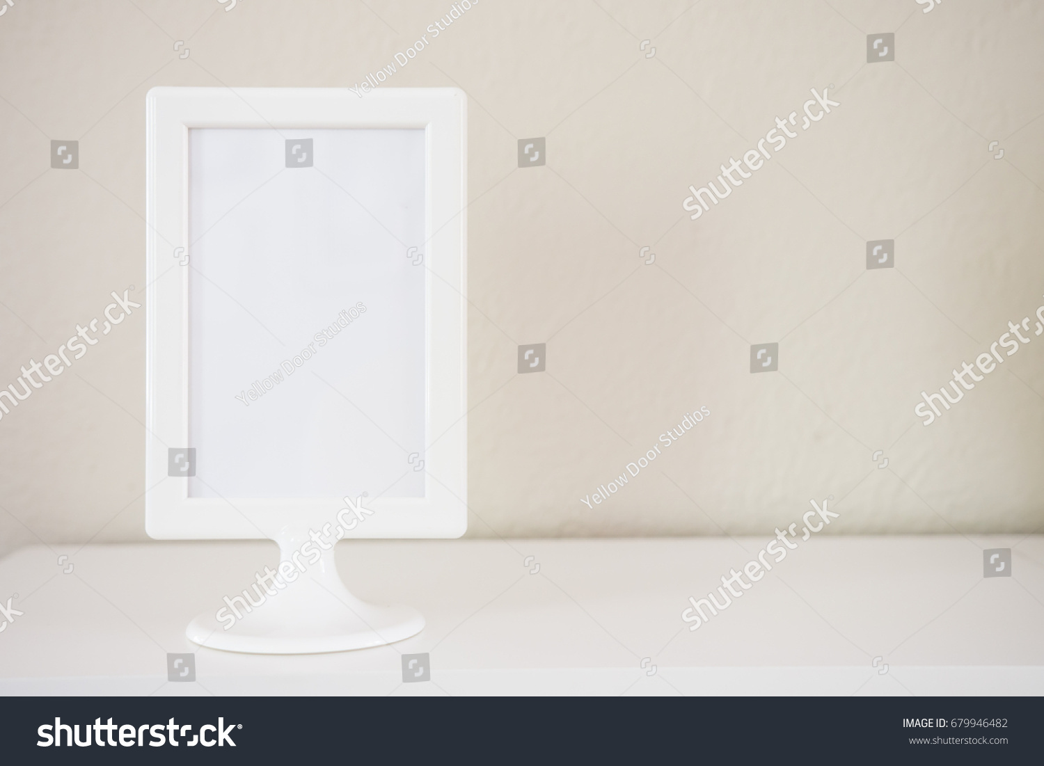 Empty White Picture Photo Frame Light Stock Photo (Royalty Free ...