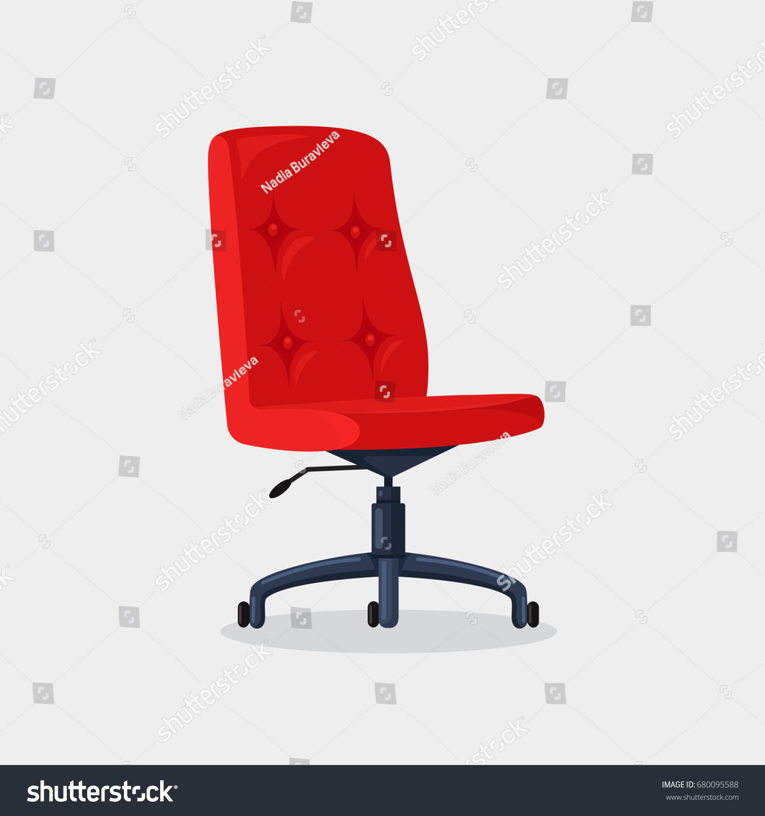 office bruder red mid furniture back chairs chair