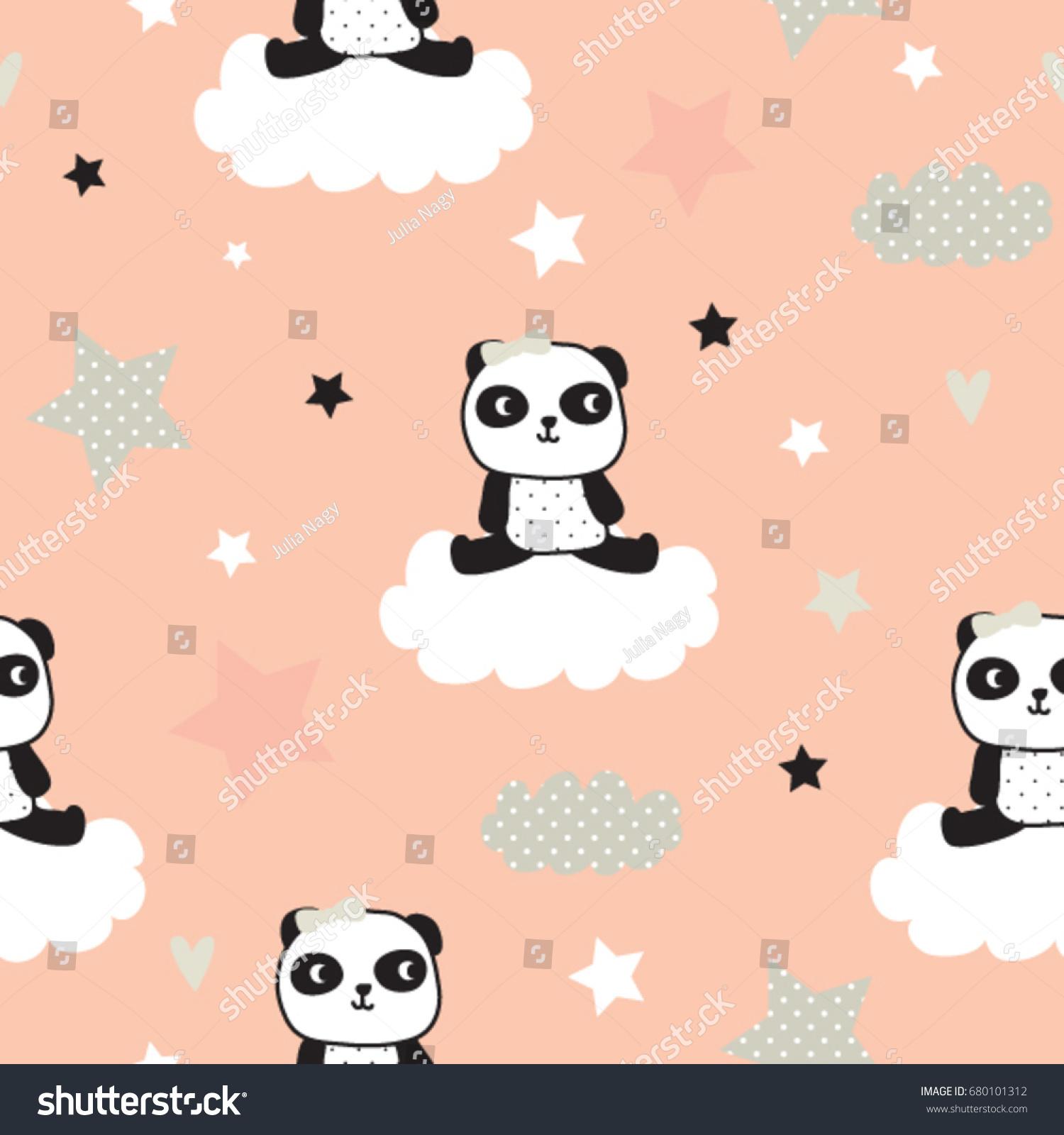 Similar Images Stock Photos Vectors Of Seamless Pattern Panda