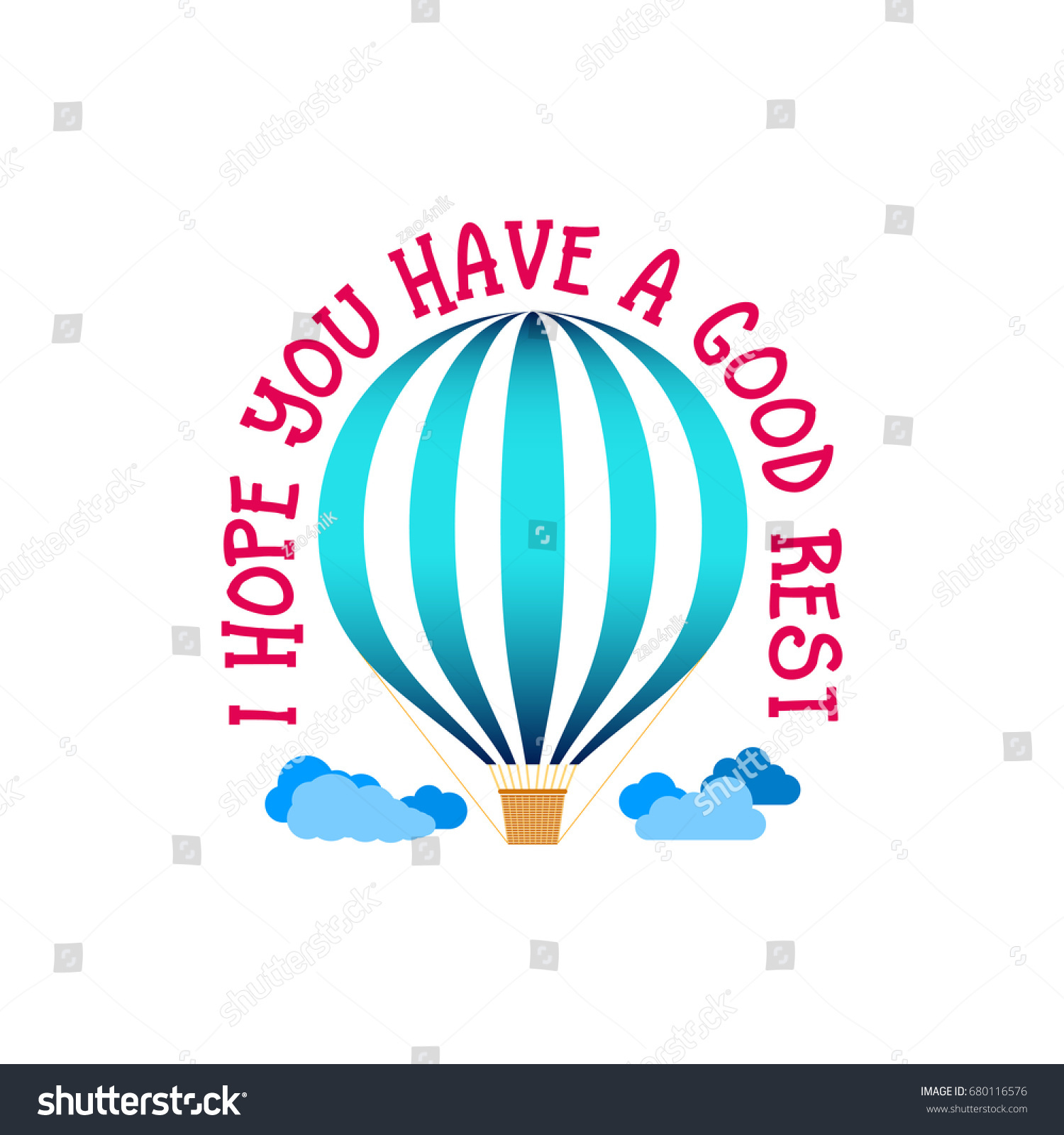 Hope You Have Good Rest Banner Stock Vector Royalty Free 680116576