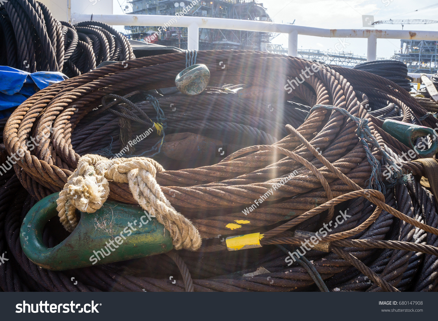 Wire Rope Sling Coiled On Construction Stock Photo (Edit Now ...