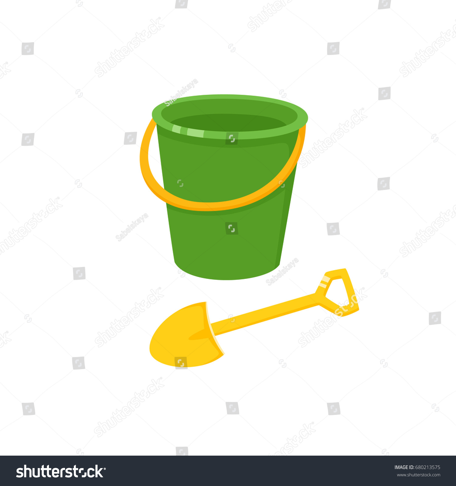 Uncategorized Toy Pail vector baby bucket sand shovel toy stock 680213575 and flat illustration child spade pail plastic