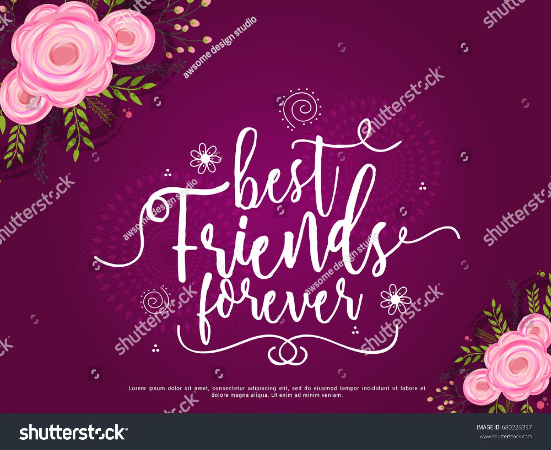 Illustration happy friendship day best friends stock vector royalty illustration of happy friendship day best friends forever typographic greeting card design m4hsunfo