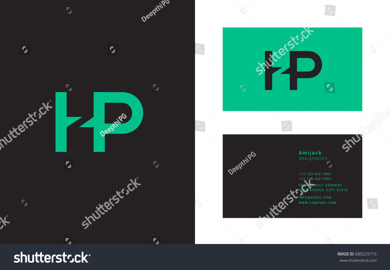H P Joint Logo Letter Design Stock Vector 680229715 - Shutterstock