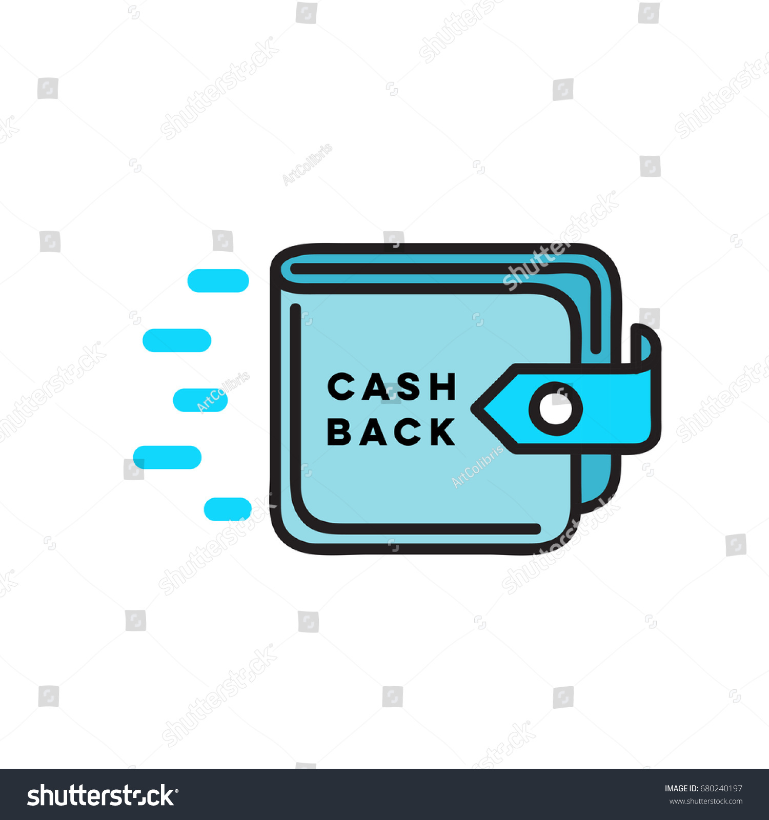 cash back flat linear wallet icon stock vector royalty free 680240197 https www shutterstock com image vector cash back flat linear wallet icon 680240197
