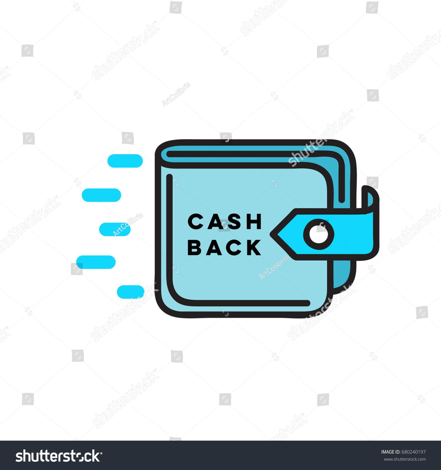cash back flat linear wallet icon stock vector royalty free 680240197 https www shutterstock com image vector cash back flat linear wallet icon 680240197