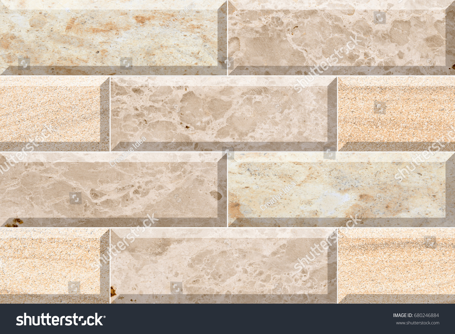 Abstract Home Decorative Brick Wall Tiles Stock Illustration ...
