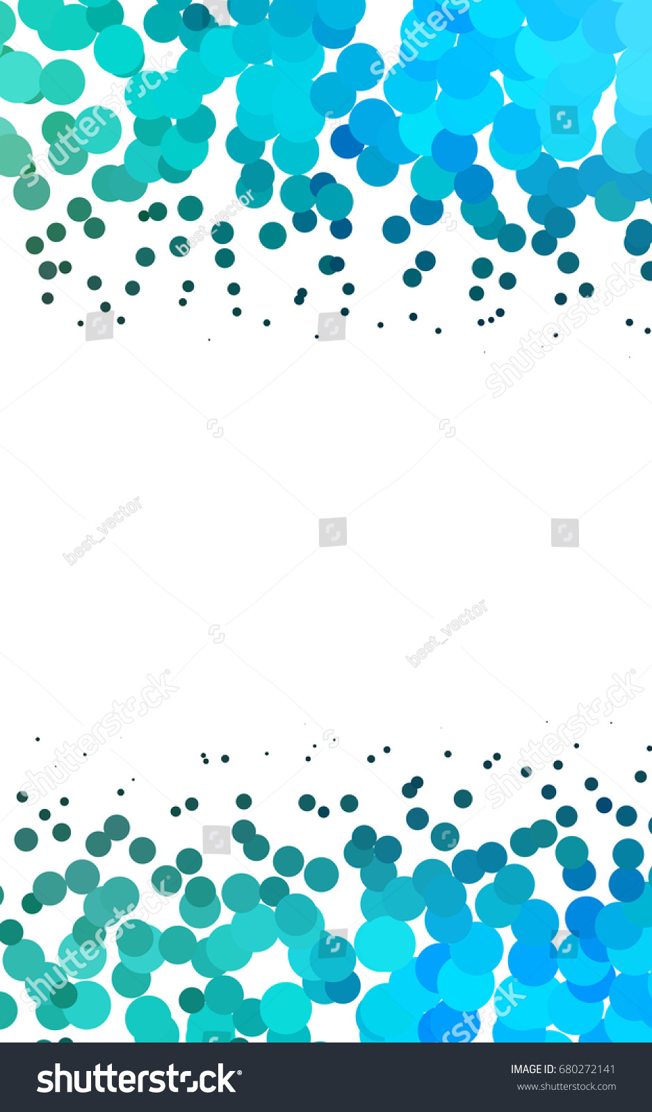 light blue green abstract pattern circles stock illustration