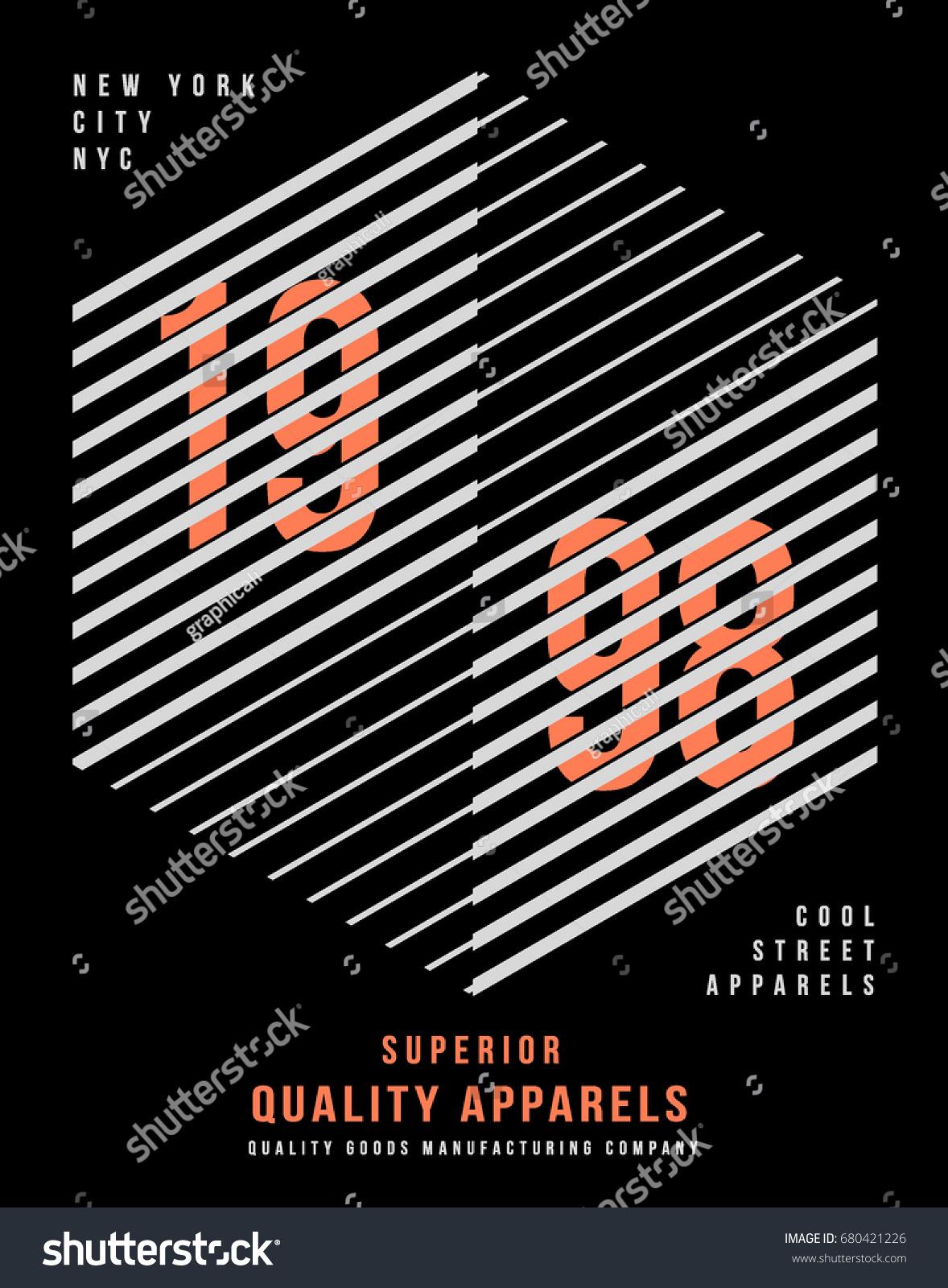 6b556ec12 Cool Urban Typography Tshirt Graphics Vectors Stock Vector (Royalty ...