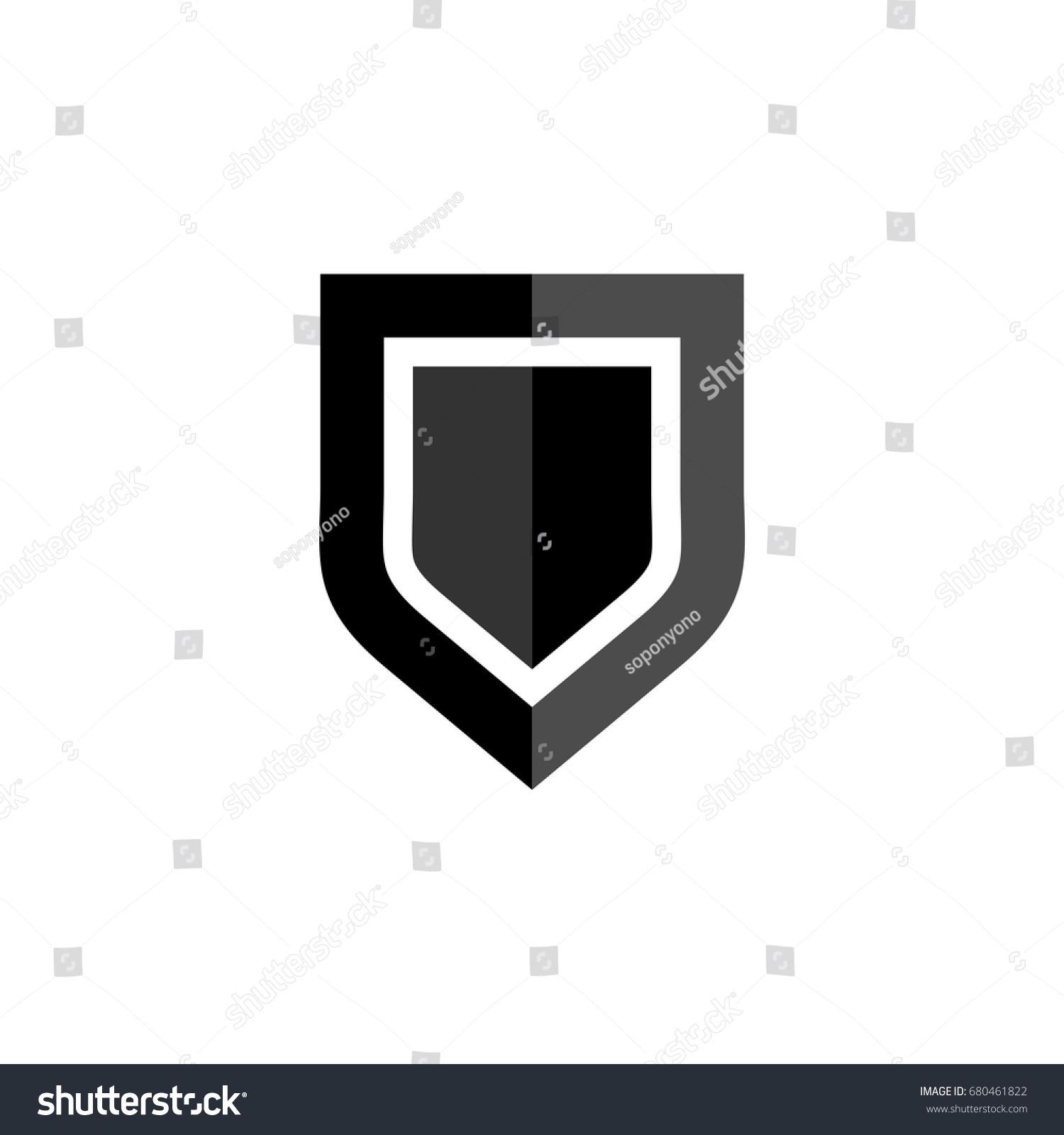 Blank Shield Logo Template Stock Vector (2018) 680461822 - Shutterstock